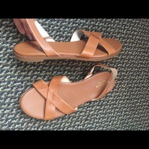 Cole Haan Grand O.S Tan Leather Sandals 9.5B NWOT